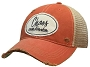 Vintage Trucker Orange Distressed Hat Chaos Coordinator