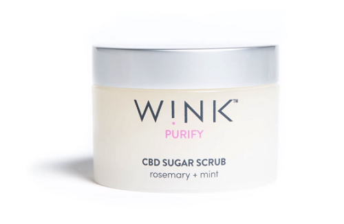 W!NK Purify Sugar Scrub Rosemary + Mint 100mg CBD 7 oz